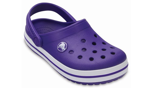 Kids Crocband, Ultraviolet/White 5
