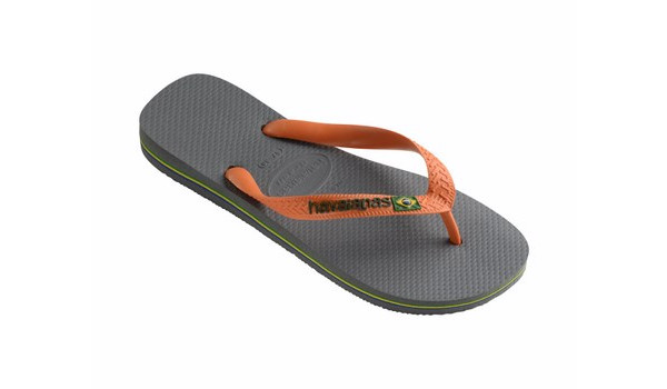 Brasil Logo Flip, Steel Grey/Neon Orange 3