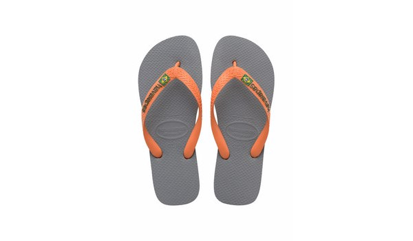 Brasil Logo Flip, Steel Grey/Neon Orange 4