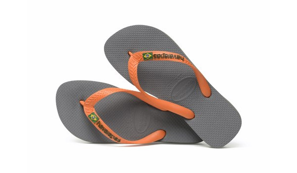 Brasil Logo Flip, Steel Grey/Neon Orange 1