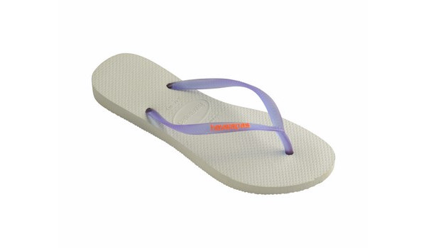 Slim Logo Flip, White/Purple 3