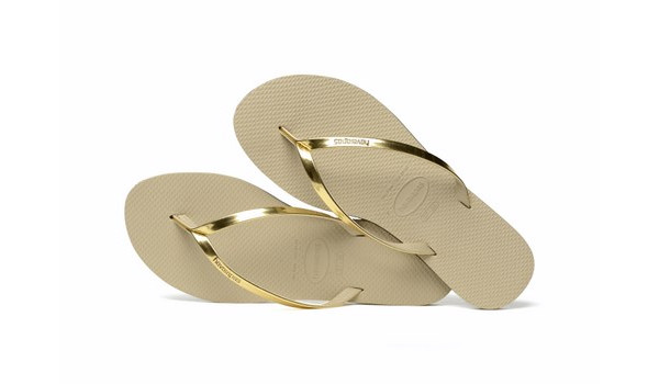 You Metallic Flip, Sand Grey/Light Gold 1