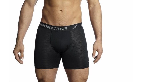 Vaporactive Boxer Briefs, Black/Charcoal 1