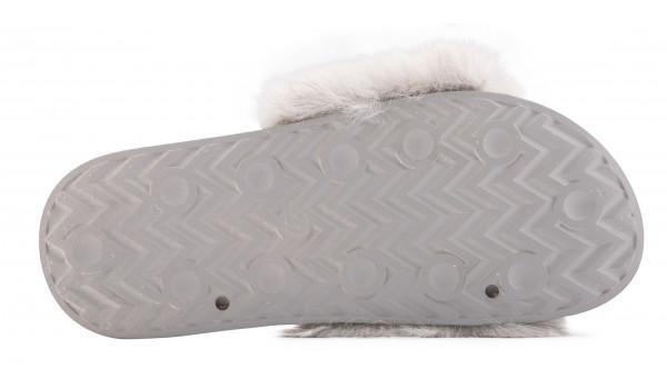 Furry Pantolette, Khaki 4