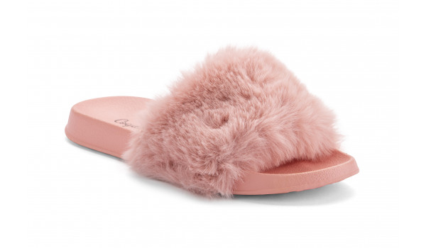 Furry Pantolette, Pink 2