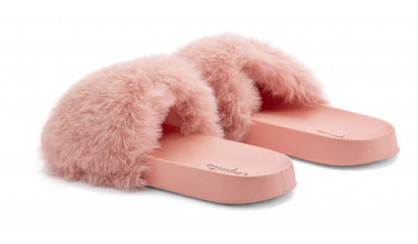 Furry Pantolette, Pink 3