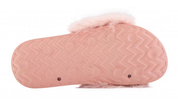 Furry Pantolette, Pink 4