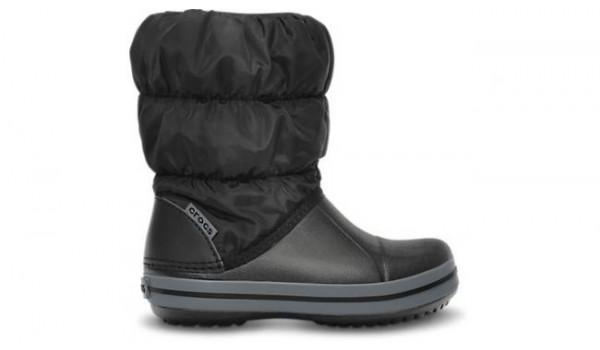 Kids Winter Puff Boot, Black/Charcoal 1