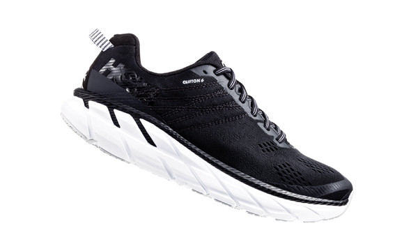Clifton 6 Men, Black/White 3