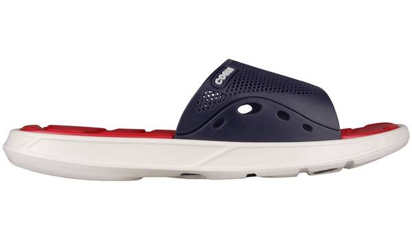 Melker Slipper, Navy/White 1