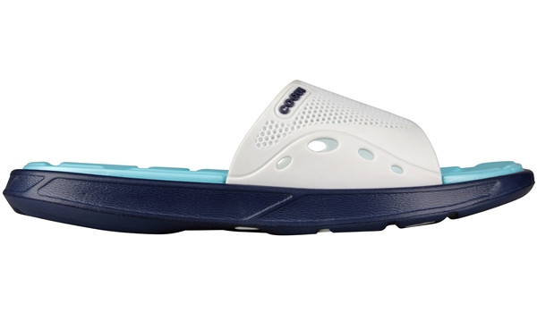 Melker Slipper, White/Navy 1