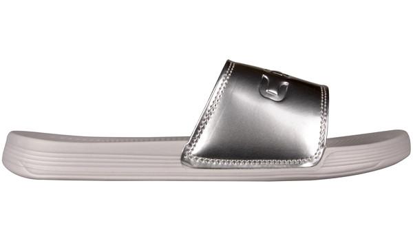 Sana Slipper, Khaki Grey/Silver 1