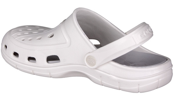 Jumper Clog, White/Khaki Grey 2