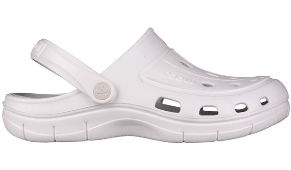 Jumper Clog, White/Khaki Grey 1
