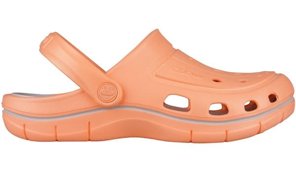 Jumper Clog, Coral/Khaki Grey 1