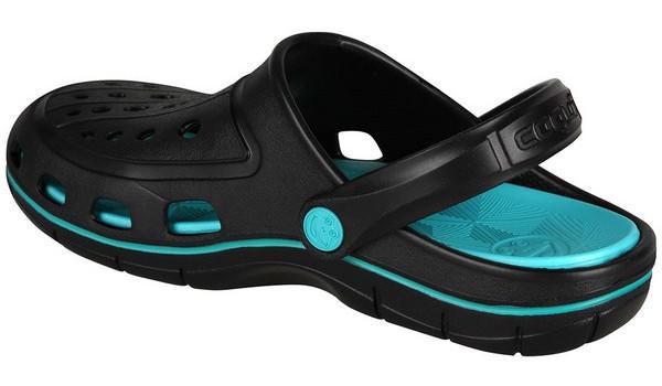 Jumper Clog, Black/Turquoise 2