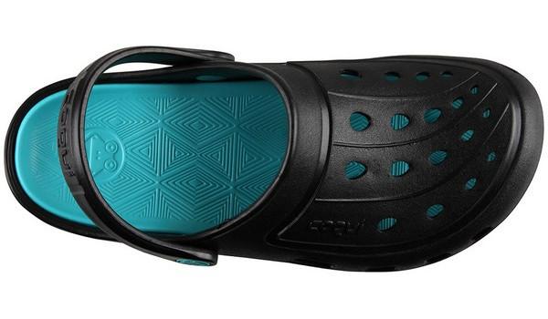 Jumper Clog, Black/Turquoise 5