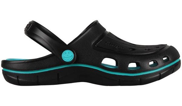 Jumper Clog, Black/Turquoise 1