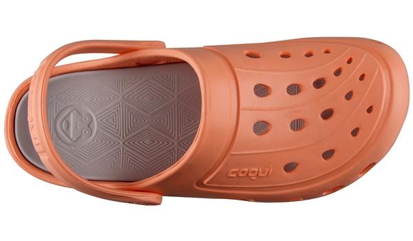 Jumper Clog, Coral/Khaki Grey 5