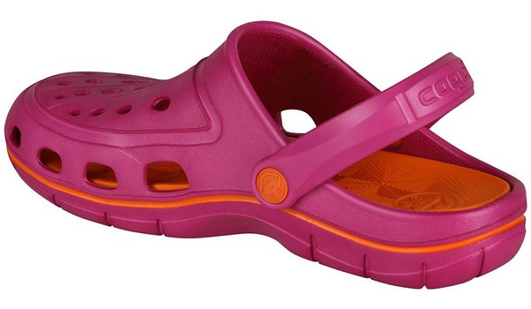 Jumper Clog, Magenta/Dark Orange 2