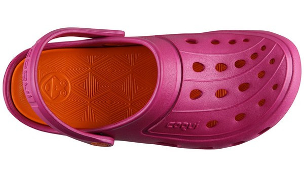 Jumper Clog, Magenta/Dark Orange 5