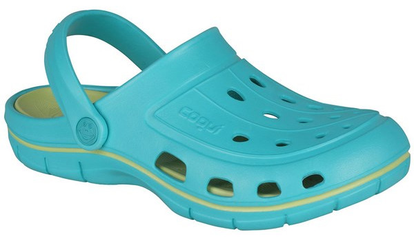 Jumper Clog, Turquoise/Light Lime 4