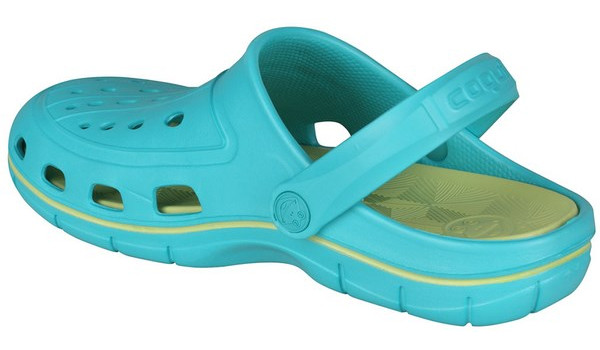 Jumper Clog, Turquoise/Light Lime 2