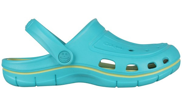Jumper Clog, Turquoise/Light Lime 1