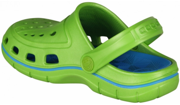 Kids Jumper Clog, Lime/Sea Blue 2