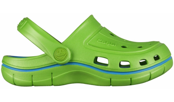 Kids Jumper Clog, Lime/Sea Blue 1