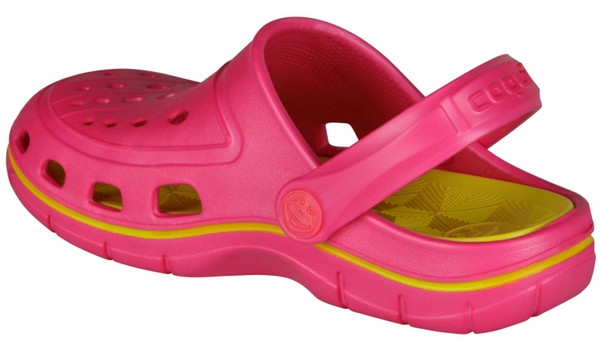 Kids Jumper Clog, Light Fuchsia/Citrus 2