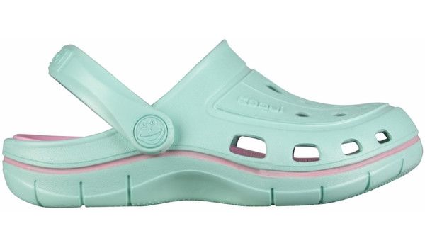 Kids Jumper Clog, Light Mint/Pink 1
