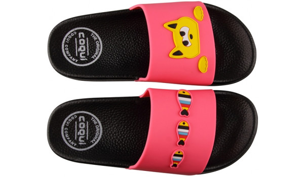Kids Ruki Slipper, Fuchsia 5