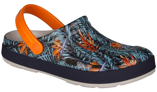 Lindo Clog, Stone/Tropical 4