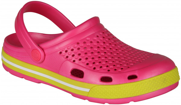 Lindo Clog, Light Fuchsia/Citrus 4