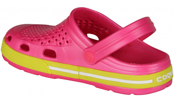Lindo Clog, Light Fuchsia/Citrus 2