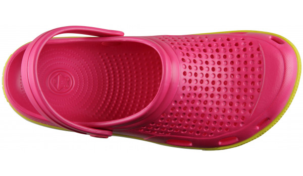 Lindo Clog, Light Fuchsia/Citrus 5
