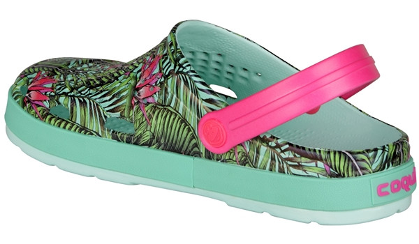 Lindo Clog, Light Mint/Tropical 2