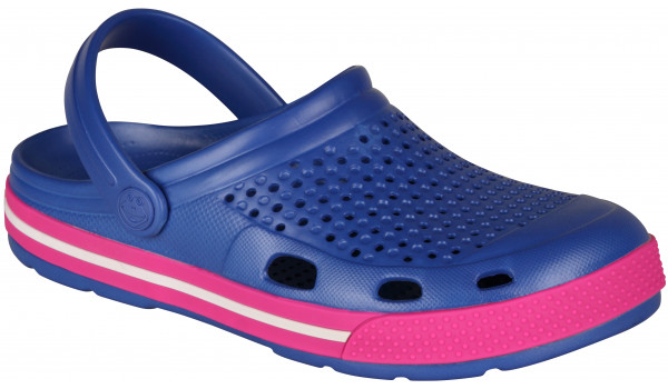 Lindo Clog, New Royal/Fuchsia 4