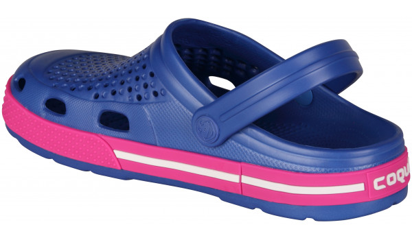 Lindo Clog, New Royal/Fuchsia 2