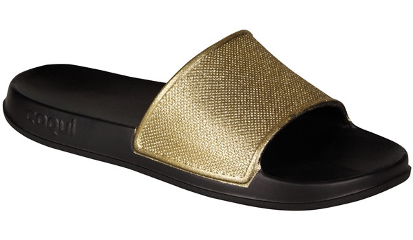 Tora Slide Glitter, Black/Gold 4