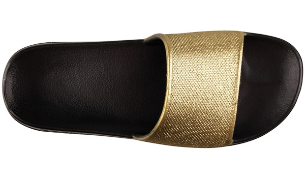 Tora Slide Glitter, Black/Gold 5