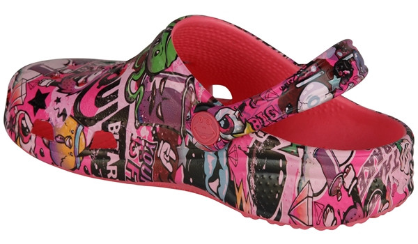 Kids Big Frog Printed Clog, New Rouge 2