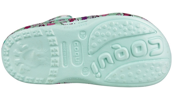 Kids Big Frog Printed Clog, Light Mint 3