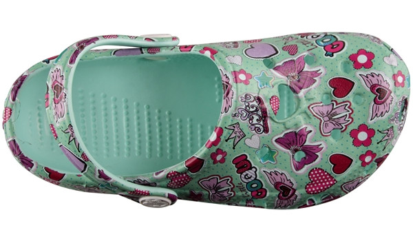 Kids Big Frog Printed Clog, Light Mint 5
