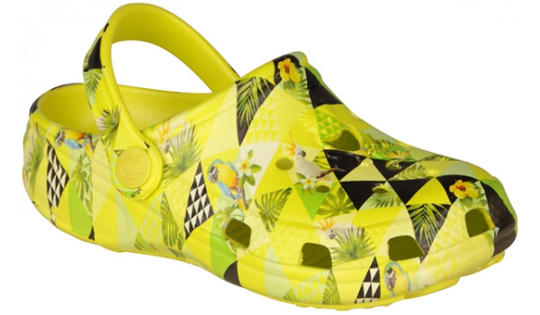 Kids Big Frog Printed Clog, Citrus 4