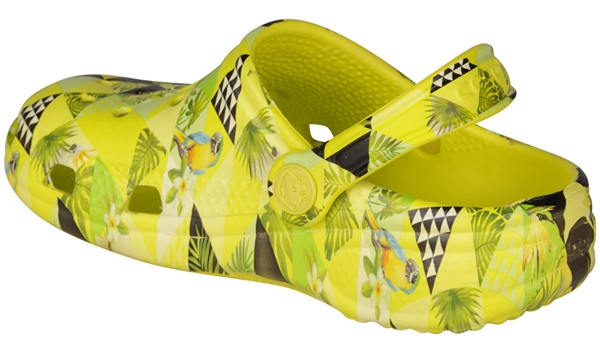 Kids Big Frog Printed Clog, Citrus 2