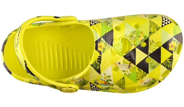 Kids Big Frog Printed Clog, Citrus 5