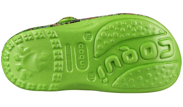 Kids Big Frog Printed Clog, Lime 3