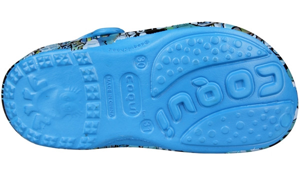 Kids Big Frog Printed Clog, Sea Blue 3